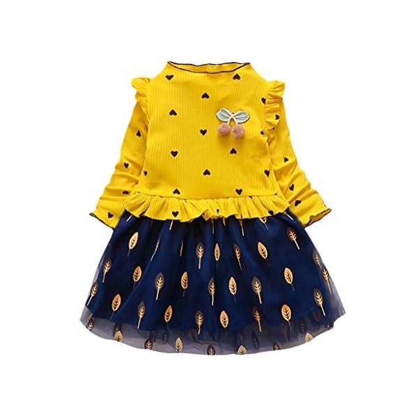 Tefamore Vestidos Niña Navidad Bebe Niños Manga Larga De Punto Arco Ropa Recién Nacido Niña Tutú Princesa Vestido Ropa… 1