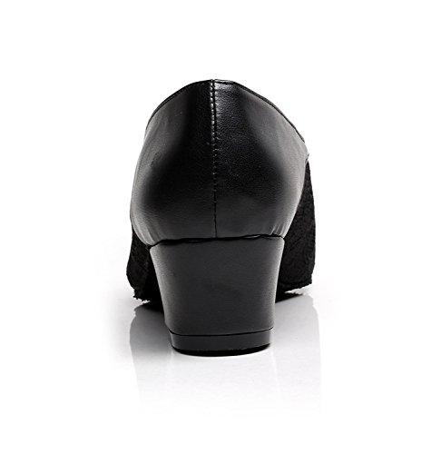 Minitoo ,  Damen Tanzschuhe Black-4cm Heel