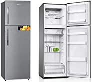 Super General 360 Liter Gross Compact Refrigerator/ Silver/ LED Lighting/ Storage Boxes/ 1670 x 550 x 600 mm/