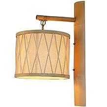 CQ Lampada da parete tessitura di bambù del sud-est asiatico Giardino minimalista Lampada da parete ristorante giapponese Lampada di bambù in rattan
