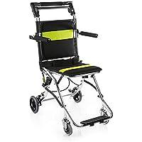 DWhui Silla de Ruedas conducción Silla de Ruedas Plegable luz portátil Ancianos discapacitados Ultraligero niños Aluminio