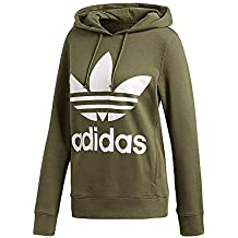 reputable site 67550 7e0fa adidas Trefoil He, Felpa Donna, Base Green, 38