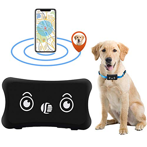 GPS Gerät Tracker mit App Finder, Likorlove Mini Wasserdichte Leichte Anti Verloren Locator mit Wiederaufladbar Akku Halsband Erweiterung Online Tracking für Hund Katzen Haustiere KFZ Personen per SMS