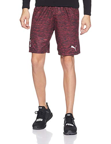 Puma – AC Milan Shorts Replica Without Inner Slip, Pants Herren M Tango Red Heather White