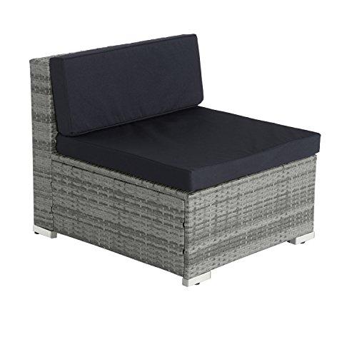 Outsunny 5pc Rattan Outdoor Garden Patio Furniture Lounger ...