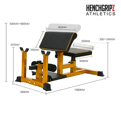 HENCHGRIPZ commerciale Sissy Squat - gamba Machine - Prolunga - Heavy Duty fitness palestra...