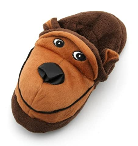 Tom Franks Childrens Brown Monkey Fun Slippers Size