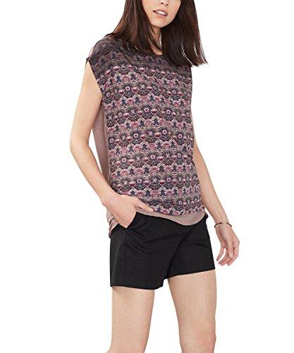 ESPRIT Collection Damen T-Shirt 086eo1k007 Mehrfarbig (MAUVE 550)