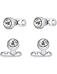 168008f5b 14G Shiny Crystal Rhinestone Dermal Anchor Tops and Bases Microdermal  Titanium Steel Body Dermal Piercing