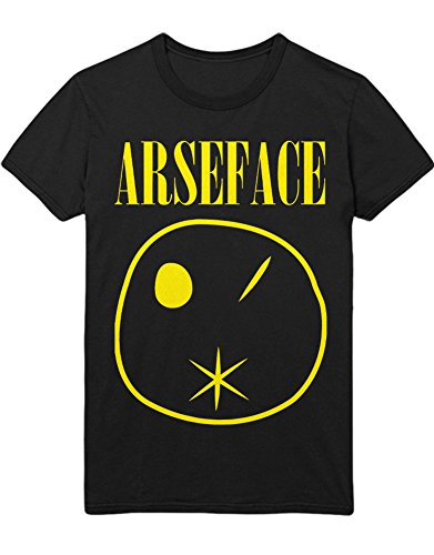 Haare Youth T-shirt (Hypeshirt T-Shirt Preacher arseface Nirvana Parody B000010 Schwarz M)