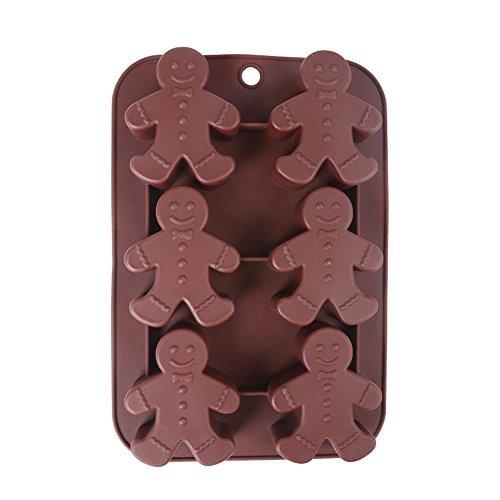 Beautylife silicone cioccolatini omino Bakeware lavabile in lavastoviglie.