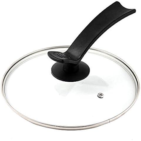 Templado sustitución de vidrio de cocina utensilios de cocina Olla Tapa 8.7 pulgadas Clear