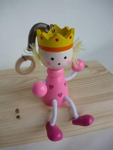Princesse rose à ressort