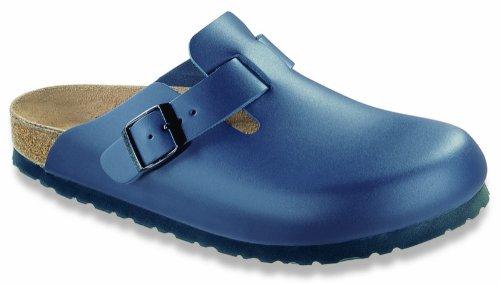 Birkenstock Boston Damen , Herren Clog Naturleder , Größe:46, Weite:Normal, Farbe:Blue -