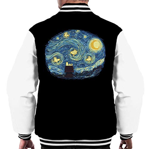 Mens Peanut (Woody Night Van Gogh Peanuts Men's Varsity Jacket)