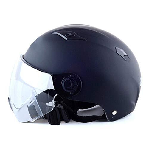 lingzhuo-shop Motorradhelm halbes Gesicht Schnellverschluss Gurt cool geeignet für Fahrrad Elektroauto Cruiser Roller