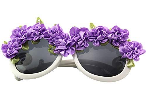 Amorar UV400 Sonnenbrille Geburtstag Brille Neuheit Party Gläser Blume Sonnenbrillen Cosplay Brille Tropical Beach Party Kostüm Luau Party Zubehör Dekor