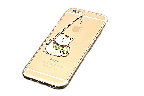 iPhone 6/6s Hülle,koala group® Mania Series Transparent Weiche Silikon Schutzhülle Ultradünnen Anti-stoß Kratzfeste TPU Case---NO21 No18