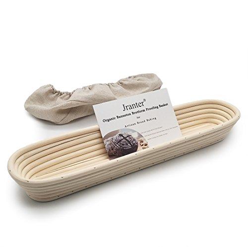épreuves de pain Panier Canne en rotin naturel tissé pour l'artiste cuisson à pain Baguette 15 inch beige -