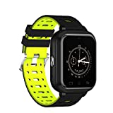 YSCYLY Fitness Tracker Smart Watch Bluetooth Multifunktions Wasserdichte IP67 4G 1 GB / 8 GB Telefon Unterstützung Herzfrequenz SIM Karte für Android 6.0,Yellow