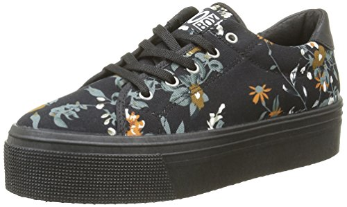 No Box Alma, Sneakers Donna, Nero (Flower Black), 41