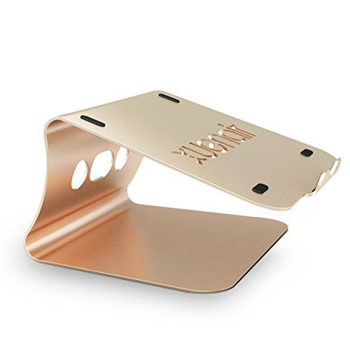 QIHANG Notebookhalterung Laptopständer für MacBook/MacBook Air/MacBook Pro/Notebooks Aluminium (Gold)