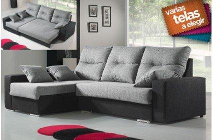 Sofá cama tres plazas con chaise longue izquierda. Varios colores