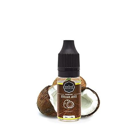KNUQO STELLAR Juice 10ml - Kokosnuss-Geschmack | e-Zigarette | Wiederaufladbare Elektronische Zigarette Liquid | Nikotinfrei | e Shisha | eShisha Club