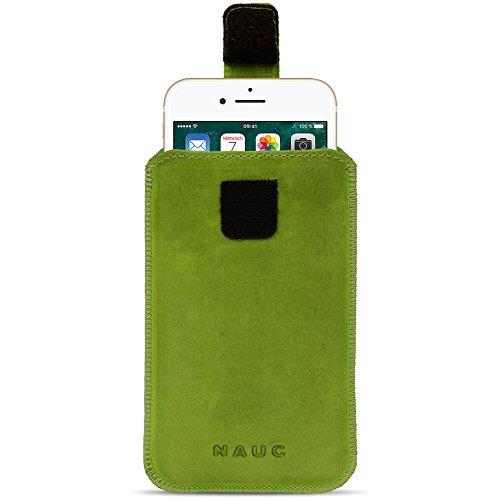 Leder Tasche für Apple iPhone 6s Plus / 6 Plus Handy Hülle Cover Pull Tab Case, Farbe:Lila Grün