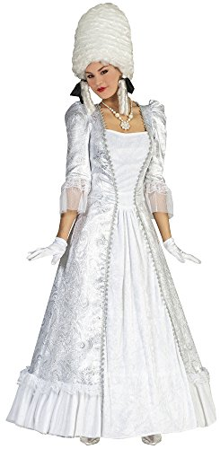 Funny Kostüm Gruppe - Barock Kostüm Christina Silber für Damen Gr. 36 38