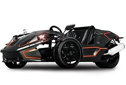 ZTR 250cc Roadster 4V Trike 4-Gang + Rückwärtsgang Quad ATV Bike EEC (Grau mit Orangenen Streifen)