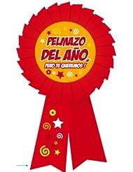 """Pinkmarket 94338 - Original y divertido regalo MEDALLA/PIN con mensaje. Modelo """"PELMAZO DEL AÑO"""""""