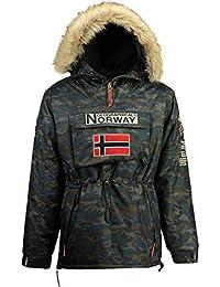 Geographical Norway Chaquetas DE Esqui DE Hombre CAMUFLAGE Navy