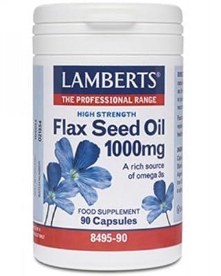 Lamberts Flax Seed Oil 1000mg QTY 90 Capsules by Lamberts
