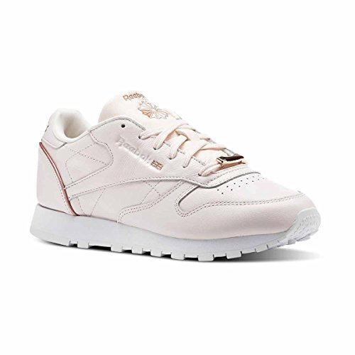 Reebok CL Leather Hw W Calzado Pink/White/Rose Gold