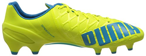 Puma Evospeed 1.4 Fg, Chaussures de football homme Jaune (Safety Yellow/Atomic Blue/White)
