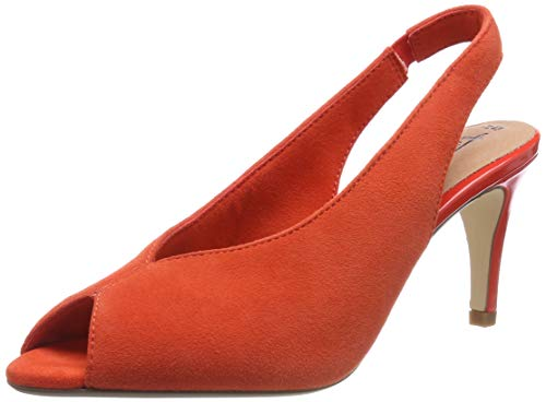 Tamaris Damen 1-1-29614-32 606 Slingback Ballerinas Orange (Orange 606), 37 EU