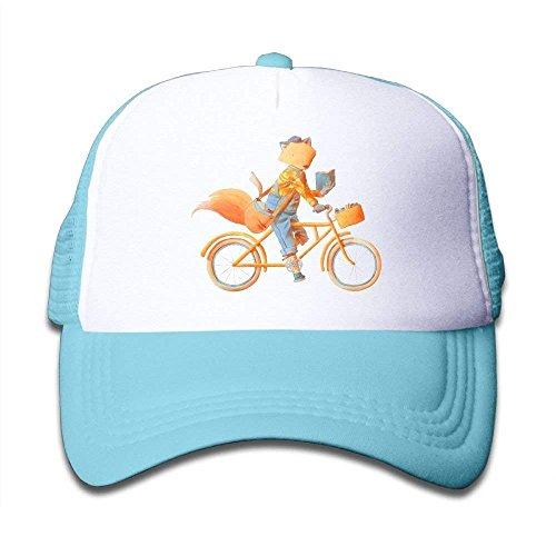 NDJHEH Hüte,Kappen Mützen Boys&Girls Fox Ride Bike Mesh Hat Snapback Baseball Caps Adjustable Trucker Caps Ride Beanie Boys