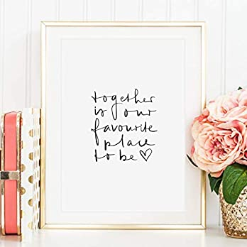 Tales by Jen Kunstdruck, Sprüche Poster: Together is our favourite place to be | Stilvolles Premium Poster auf…