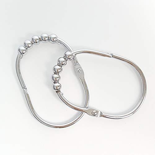 Ocamo 12 Teile/Satz 5 Perlen Oval Form Vorhang Hängen Haken Chrom -