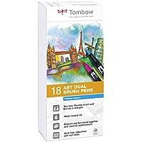 Tombow Dual Brush - Estuche 18 rotuladores doble punta pincel, color muticolor