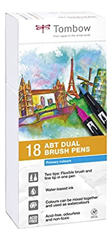 Tombow ABT-18P-1 Dual Brush Pen Lot de 18 Feutres pinceau