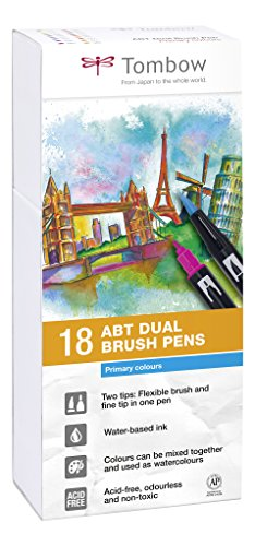 Set De 18 Rotuladores Dual Brush Colores Primarios