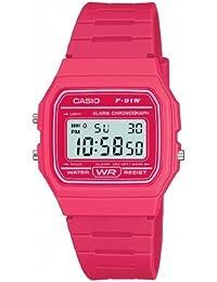 Casio F-91WC-4AEF - Reloj de cuarzo para hombres, color rosa