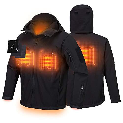 Heizjacke für Männer und Frauen - USB Electric Heating Leichte Heizjacke mit einstellbarer Temperatur, winddicht, verdickt, waschbarer Heizmantel