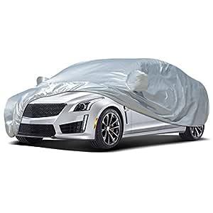 Audew Car Body Cover Sedan Cover Waterproof/Windproof/Dustproof/Scratch Resistant Outdoor UV Protection Full Car Covers for Sedan L (177''-191'')