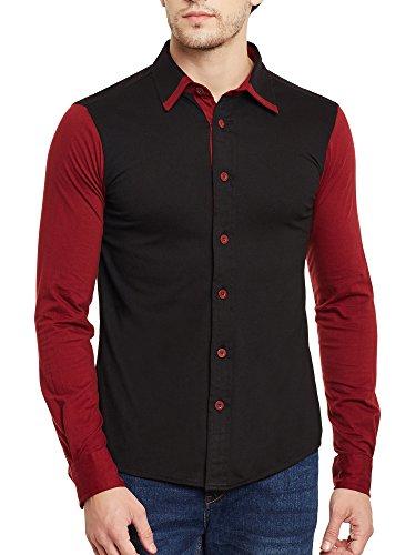 Gritstones-Black-Maroon-Full-Sleeves-Shirt-GSFSSHRT1462