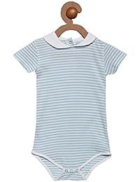 Berrytree Premium Quality Organic Cotton Peter Pan Collar & Short Sleeves Printed Pattern Onesie