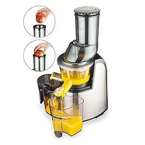 MACOM Just Kitchen 859 Perfect Juice Estrattore Di Succo / Slow juicer a freddo e a lenta rotazione per frutta e verdura con bocca larga 75 mm. - 2021 -