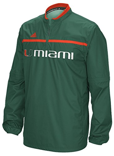 Miami Hurricanes Adidas 2015 Sideline 1/4 Zip Climalite Convertible Jacket Giacca